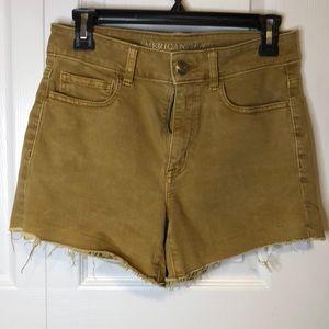 AE Super Streth Hi-Rise Shortie Shorts Size 6